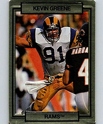 best service eecf2 7a716 Amazon.com: 1990 Action Packed #137 Kevin Greene LA Rams NFL ...