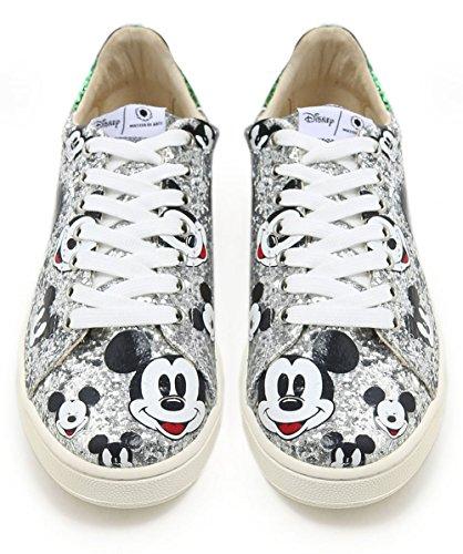Master Of Arts Damer Disney Glitter Mickey Træner Sølv Sølv wqnxovC8