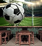 3D Soccer Shot 8 Wall Paper Wall Print Decal Wall Deco Indoor wall Murals Removable Wall Mural | Self-adhesive Large Wallpaper , AJ WALLPAPER Carly (82''x58''(WxH))