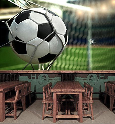 3D Soccer Shot 8 Wall Paper Wall Print Decal Wall Deco Indoor wall Murals Removable Wall Mural | Self-adhesive Large Wallpaper , AJ WALLPAPER Carly (82''x58''(WxH)) by AJ WALLPAPER