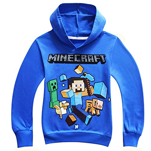 (M-inecraf-t Charged Creeper Boys Hoodie Fashion Youth Sweater M)
