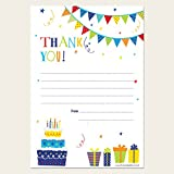 Fun Party Time - Thank You Note Sheets & Envelopes - Pack of 20