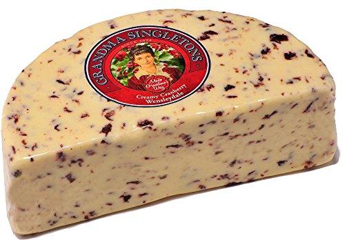 Wensleydale with Cranberries Cheese (2.5 Lb Half Wheel) Grandma Singletons