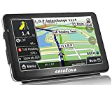 Carelove 7-Inch Silky Appearance Touch Screen Car GPS Navigation Lifetime Free Map Update with Multimedia Player