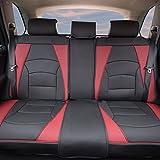 FH Group PU205013BURGUNDYBLACK Bench PU205BURGUNDYBLACK013 Ultra Comfort Leatherette Rear Seat Cushions Burgundy and Black