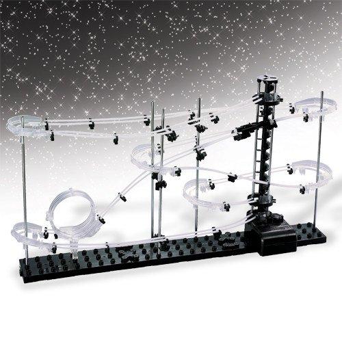Kosmische Achterbahn Kinderspielzeug Männergeschenk schwarz weiss 64x14x36cm