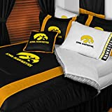 NCAA Iowa Hawkeyes - 3 Pc Comforter Set - Queen and Full Size Bedding