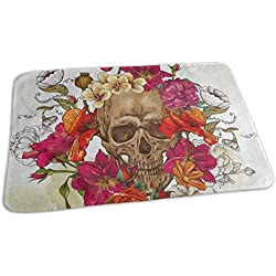 Changing Pad Vintage Red Rose Poppy Flower Skull Baby Diaper Incontinence Pad Mat Special Toddler Children Waterproof Sheet Sheet For Any Places For Home Travel Bed Play Stroller Crib Car