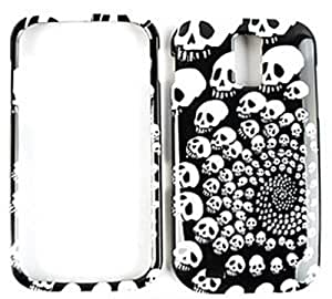 CELL PHONE CASE COVER FOR SAMSUNG GALAXY S II T989 SWIRLING SKULLS by Maris's Diary