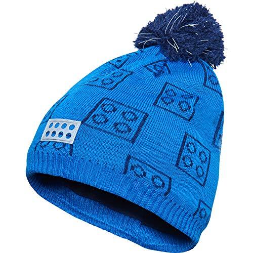 - LEGO Wear Kids & Baby Fleece-lined Knit Hat with LEGO Pattern, Reflective Pom Pom with 3M Scotchlite Reflector Badge, Blue, 4-7 Yr