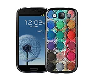 Custom Samsung Galaxy S3 Black Case Watercolor Sets With Brushes Art Phone Cover Accessories