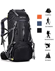 ONEPACK 50L(45+5) Hiking Backpack Travel Daypack Waterproof Backpack Outdoor Sports Daypack with Rain Cover for...