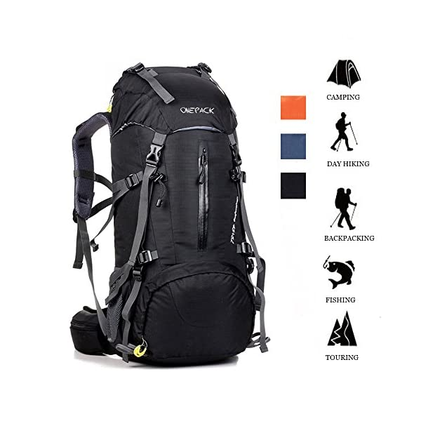 091e50cc0efe ONEPACK 50L(45+5) Hiking Backpack Travel Daypack Waterproof Backpack Outdoor  Sports Daypack with Rain Cover for Climbing Camping Mountaineering Fishing  ...
