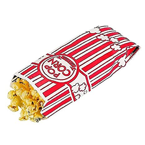 Sanrose - Bolsas para palomitas de maíz 0.6 oz. 18 x 3,8 x 7 ...