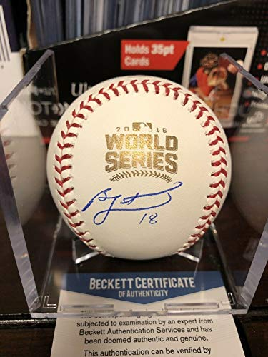 Ben Zobrist Autographed Signed 2016 World Series Baseball Cubs Beckett Coa Mvp Cube - Authentic - Cube Chicago Cubs Baseball