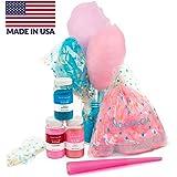 Nostalgia FSCC8 Cotton Candy Party Kit 3 Flavors, 4 Reusable Cones, 10 Floss Bags, 1
