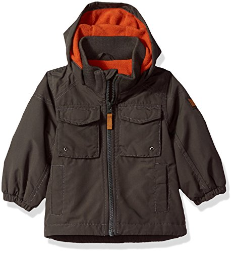 Carter's Baby Boys Perfect Midweight Jacket Coat, Grey/Spice, 24M