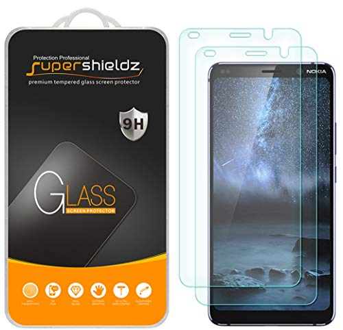 (2 Pack) Supershieldz for Nokia 9 and Nokia 9 PureView Tempered Glass Screen Protector, Anti Scratch, Bubble Free