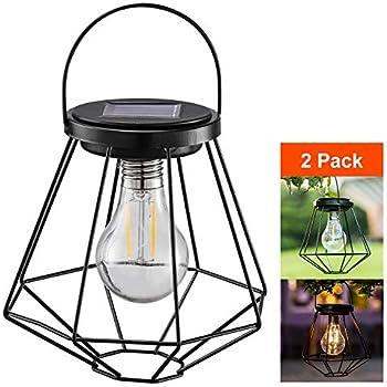 GreenLighting NEW Solar Powered LED Pear Shape Basket Weave Table Lantern Light