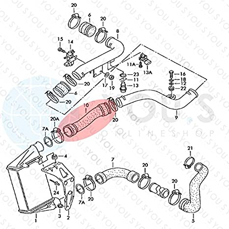 3B0145834R 1.9 TDI YOU.S Ladeluftschlauch für VW PASSAT // PASSAT Variant 3B/_