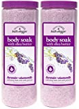 Village Naturals Bath Shoppe, Body Soak, Lavender and Chamomile, 31 oz, Pack of 2