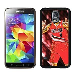 New Custom Design Cover Case For Samsung Galaxy S5 I9600 G900a G900v G900p G900t G900w Portland Trail Blazers damian lillard 3 Black Phone Case