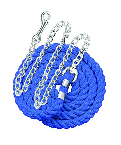 Perri's Cotton Lead with Chain, Royal Blue, 1/2