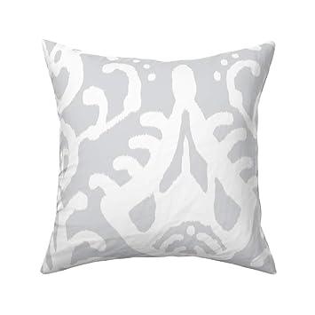 Amazon.com: Ikat Home Dec tapicería gris tribal étnico, para ...