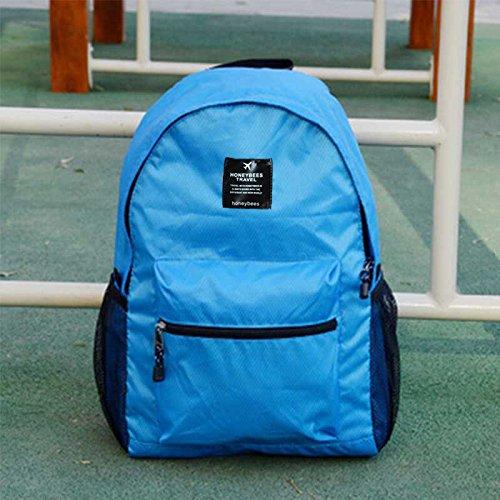 LWJgsa Plegable Bolsa De Hombro Hombres Y Mujeres Mochila Senderismo Bolsa Luz Dinero Viajar Portatil Bolsa De Almacenamiento Lago Azul Royal Blue