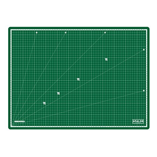Analog Self Healing Durable PVC COLOR Cutting Mat Board Art Craft (A2 Deep Green) by Analog