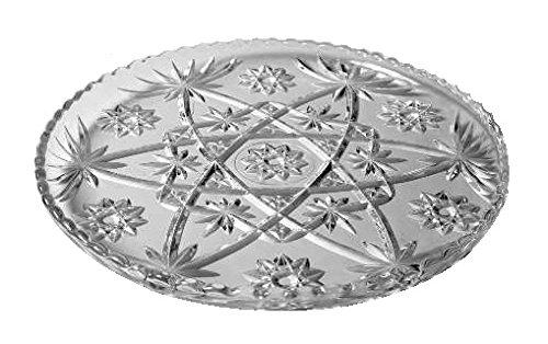 Anchor Hocking Platter (Anchor Hocking Prescut Clear Glass ( 13 1/2