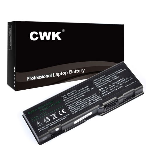 CWK New Replacement Laptop Notebook Battery for Dell Inspiron 312-0349 312-0350 6000 9200 E1705 E1505n Precision M90 Dell Inspiron XPS M170 Gen 2 M170 M1710 310-6322 U4873 Y4873 YF976 Dell Inspir