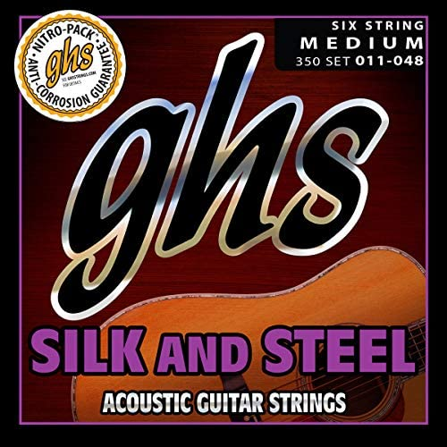 GHS Silk and Steel Acoustic Set 345 .010-.042 Silver-plated Copper Light