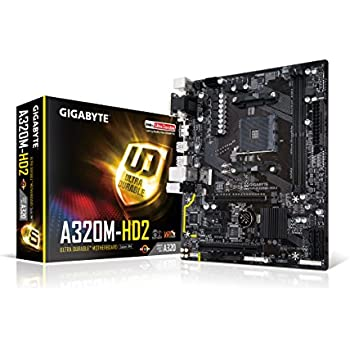 Gigabyte GA-A320M-HD2 Tarjeta Madre AMD Ryzen AM4 A320 HDMI USB 3.1 Type-A Micro ATX DDR4
