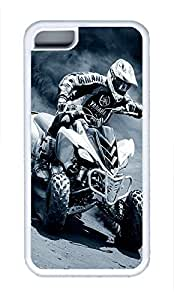 5C Case, iPhone 5C Case Galaxy Pattern Atv Racing iPhone 5C Shoockproof White Soft Case Full Body Hybrid Impact Armor Defender Cover protective Case for iPhone 5C