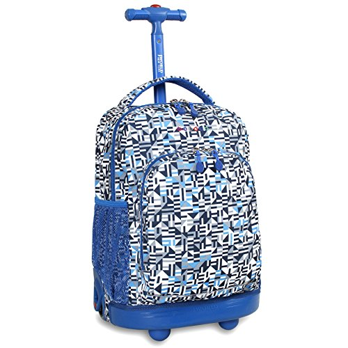 J World New York Sunny Rolling Backpack Geo Blue One Size