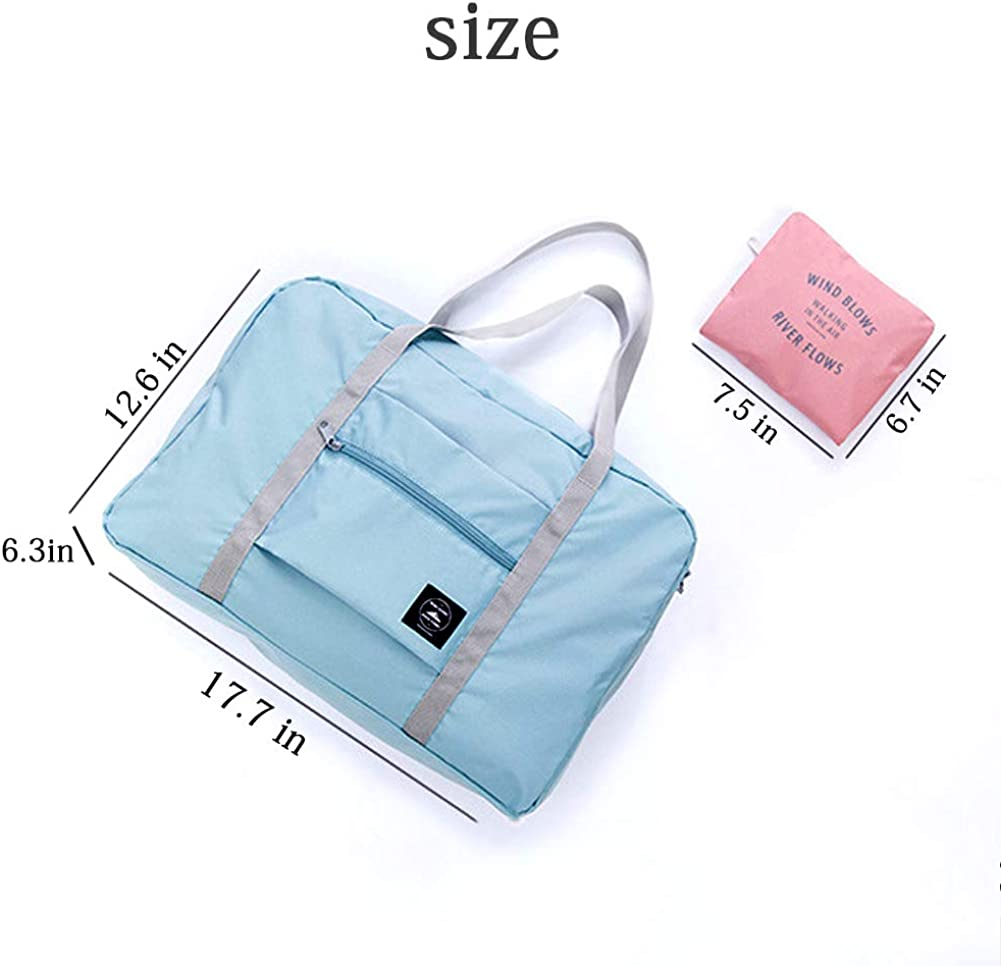 Women 32 Liter INVODA Foldable Travel Bag Luggage Storage for Sports Gym Water Resistant Nylon Canvas Duffel for Men