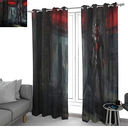 NUOMANAN Blackout Curtains for Bedroom Fantasy World,Fictional Reverent