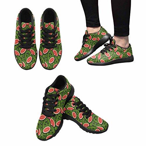 Interestprint Mujeres Trail Running Zapatos Jogging Ligero Deportes Walking Athletic Sneakers Sandía Cartoon Face Multi 1