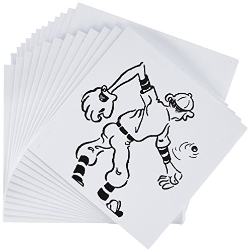 3dRose Vintage Baseball Player - Greeting Cards, 6 x 6 inches, set of 12 (gc_22316_2)