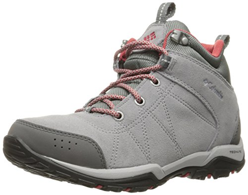 Columbia Fire Venture Mid Waterproof, Zapatillas de Deporte Para Exterior Para Mujer Gris (Steam/ Sunset Red)