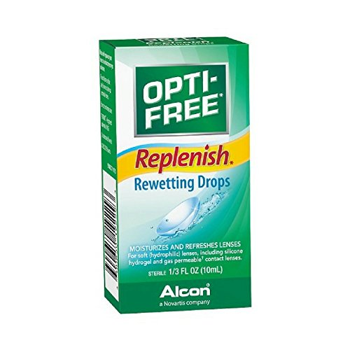 Rewetting Drops Lens (OPTI-FREE Replenish Rewetting Drops 10 mL ( Packs of 4))