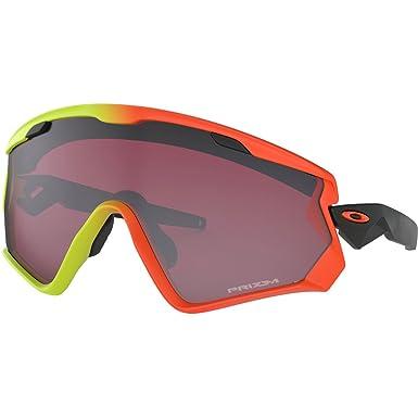 9b0dd25256be Oakley Men s Wind Jacket 2.0 Non-Polarized Iridium Rectangular Sunglasses