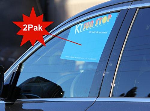 The Orginal Side Sun Visor for Car [2Pak - Gray] by KT Sunstop (blue) (Side Sun Visor)