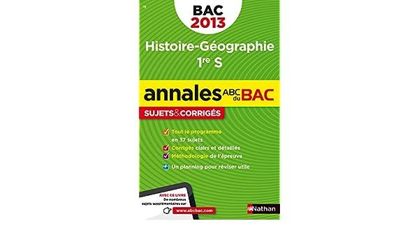Histoire-Géographie 1e S : Sujets & corrigés ABC du Bac: Amazon.es: Servane Marzin, Guillaume Gicquel, Julie Noesser, Alain Rajot, Youns Zraezae: Libros en ...