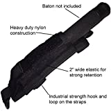 "Miles Tactical Baton Holder Molle (Black, 16""-21"")"