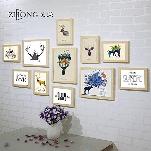 Holz Bilderrahmen foto Wand dekor bild Rahmen elk Schlafzimmer Wohnzimmer Wand Bilderrahmen Bilderrahmen an der WandDassHolz Farbe in der Elk pen Core