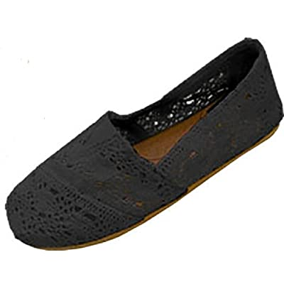 Shoes 18 Womens Canvas Crochet Slip on Shoes Flats | Flats