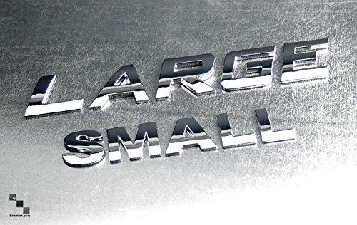 Bimmian LTRAAASLA Custom Vehicle Emblems 0.87 in. Tall44; Standard Chrome Finish - Letter (Emblem Standard)