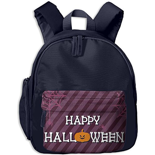 Halloween Background Design Kid's School Bags Adjustable Shoulder Backpack For School And Travel Time